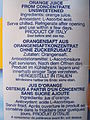 """ 13 - ITALY - Orange juice with ingredients 100% pure italian orange juice made in Italy - Tetra Pack descriptions in more languages for export.JPG"