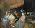 'Café de la Paix', Circa 1906, William Glackens, Nova Southeastern University Museum of Art.jpg