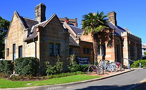 Victoria Park, Sydney - The Gardener's Lodge, formerly used as a toilet block, has been turned into a cafe