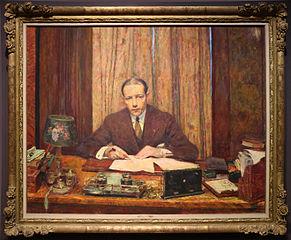 Lucien Rosengart à sa table de travail