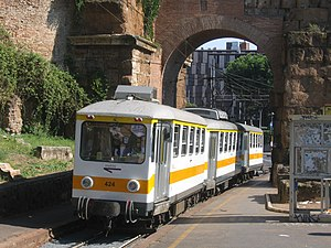 Rome Metro - A train of the Roma-Giardinetti line