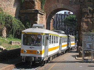 Rome Metro - A train of the Roma-Giardinetti line