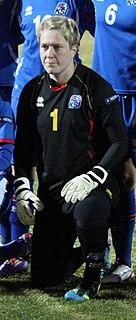 Þóra Björg Helgadóttir Icelandic footballer