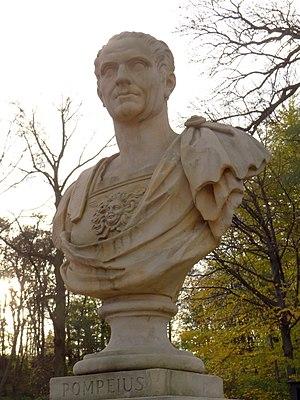 Pompeia (gens) - Gnaeus Pompeius Magnus, bust at Łazienki Park, Warsaw.