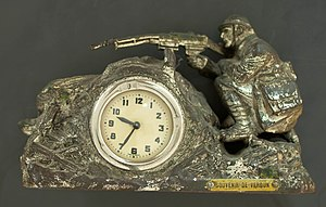 Battle of Verdun - Souvenir of the battle showing a French soldier.
