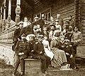 Александр III и Мария Федоровна на крыльце своего дома в Лангинкоски в Финляндии.jpg