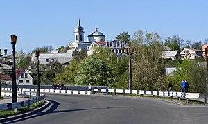 Bohuslav - Skyline of Bohuslav across the Ros' River