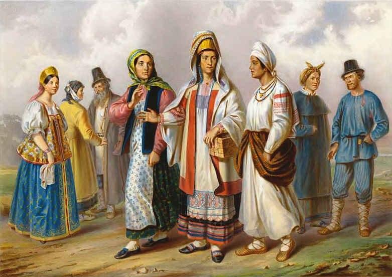 Великороссияне разных губерний 1862 01