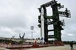Вывоз и установка ракеты космического назначения «Ангара-1.2ПП» на стартовом комплексе космодрома Плесецк 16.jpg