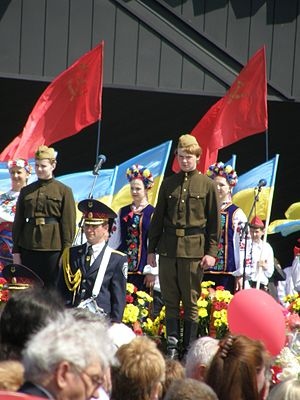 Post-Soviet states - Victory Day in Donetsk, Ukraine, 9 May 2010