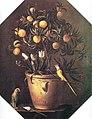 Лука Форте Персикове дерево і папуги до 1650 р.jpg