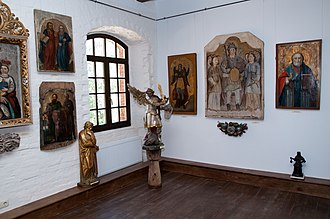 Radomysl Castle - Radomysl Castle. The Museum of Ukrainian Home Icons. The Ceremonial Hall's piece of exhibition