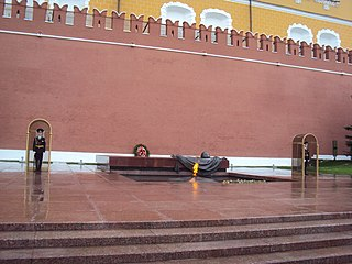 Tomb of the Unknown Soldier (Moscow) war memorial in Moscow, Russia