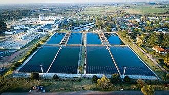 Очистка сточных вод Википедия Пункт очистки воды в Агуас Корриентес Уругвай