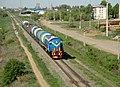 ТЭМ2-5846, Казахстан, Западно-Казахстанская область, перегон Уральск - Жилаево (Trainpix 149648).jpg