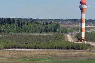 Surface movement radar - Surface movement radar tower at Helsinki Airport