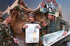Telecommunications in Israel - A comedy about Iraqi missile launchers during Gulf War at the Zehu Ze! TV program