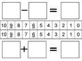 חיבור וחיסור - תבניות לתרגילים ומספרים.pdf