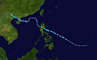 1953 Pacific typhoon season - Image: 04W 1953 track
