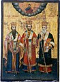 075 Three Saints Icon from Saint Paraskevi Church in Langadas.jpg