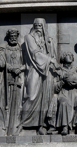 Patriarch Hermogenes of Moscow - Hermogenes at the Millennium Monument in Novgorod