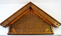 100 Jahre Freiwillige Feuerwehr Westercelle 1893-1993, Künstlersignatur K. F., Gott zur Ehr, dem Nächsten zur Wehr, Holzschnitzerei gesehen Westerceller Straße 4, Celle.jpg