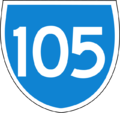 105 based on Australian State Route signs.png