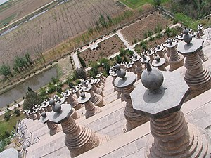 Ningxia - The 108 stupas near Qingtongxia.