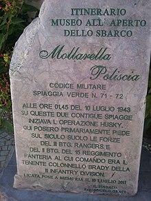 10 Luglio 1943 Sbarco in Sicilia degli Alleati a Licata Settore Joss Spiaggia di Mollarella e Poliscia.jpg