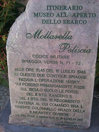 A Bell for Adano (novel) - Image: 10 Luglio 1943 Sbarco in Sicilia degli Alleati a Licata Settore Joss Spiaggia di Mollarella e Poliscia