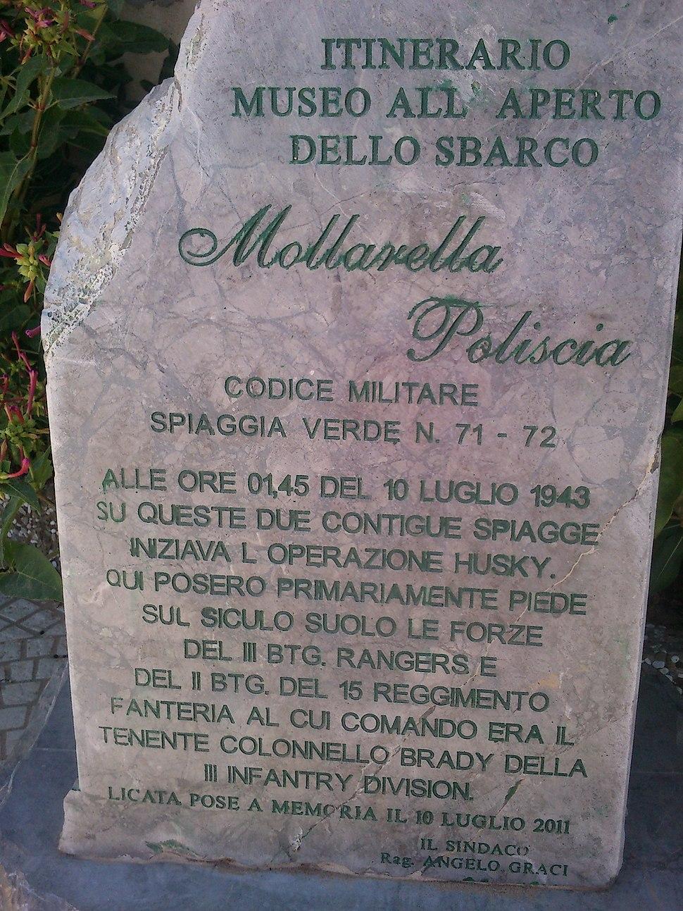 10 Luglio 1943 Sbarco in Sicilia degli Alleati a Licata Settore Joss Spiaggia di Mollarella e Poliscia