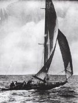Sailing at the 1920 Summer Olympics – 10 Metre - Image: 10 Metre MOSK II during the 1920 Summer Olympics