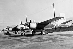 146th Airlift Wing - B-26C of the 115th Light Bombardment Squadron, Van Nuys Airport, 1950.
