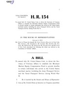 116th United States Congress H. R. 0000154 (1st session) - Honoring Our WWII Merchant Mariners Act of 2019.pdf