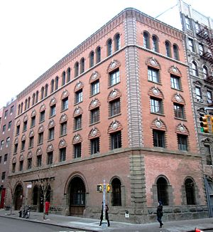 """Elizabeth Street (Manhattan) - The """"Candle Building"""" on the corner of Elizabeth and Spring Streets"""