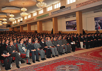 Afghan National Police - Graduation day at the Ministry of the Interior in 2012