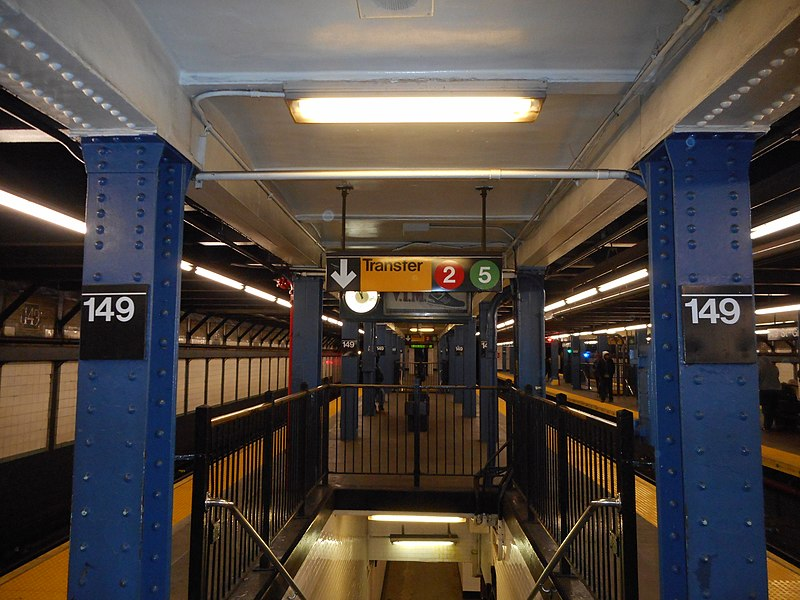 File:149th Street – Grand Concourse; Transfer from Jerome Ave to WPR.JPG