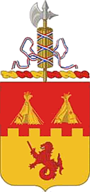 144th Field Artillery Battalion (United States) - Coat of arms