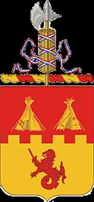 157th Field Artillery Regiment - Coat of arms