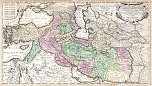 1730 Ottens Map of Persia (Iran, Iraq, Turkey) - Geographicus - RegnumPersicum-ottens-1730.jpg