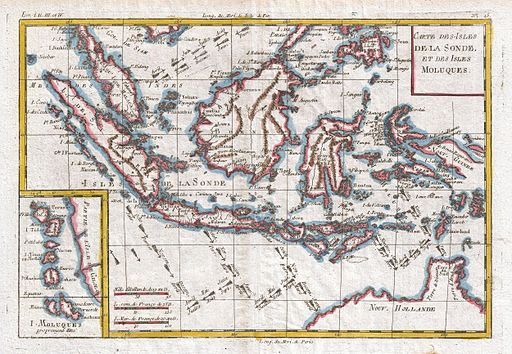 1780 Raynal and Bonne Map of the East Indies (Singapore, Java, Sumatra, Borneo) - Geographicus - Moluques-bonne-1780