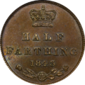 1843 Great Britain Half Farthing Reverse.png