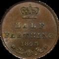 1843 Great Britain Half Farthing Reverse.png