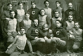 Winchester Osgood - 1892 Cornell varsity football team: Osgood is the 2nd from the left in the front row.