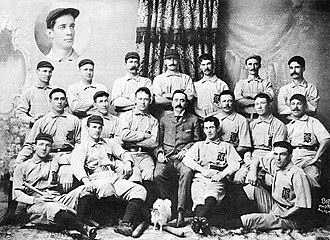 John McGraw - McGraw (2nd from left, front row) with the 1896 Baltimore Orioles