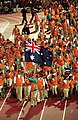 191000 - Opening Ceremony swimmer Brendan Burkett flag 3 - 3b - 2000 Sydney opening ceremony photo.jpg