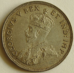 1925 East African 1 Shilling coin obverse.jpg