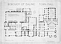 1937 Plan of the first floor of Ealing Town Hall, West London.jpg
