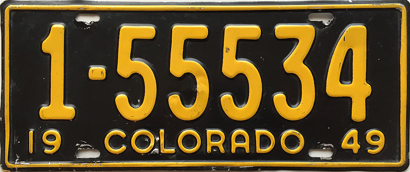 File:1949 Colorado license plate.JPG