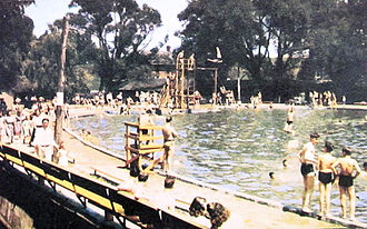 Dorney Park & Wildwater Kingdom - The swimming pool about 1950
